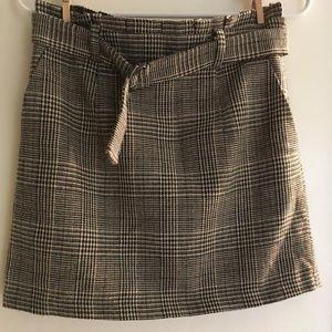 Forever 21 Plaid Checked Skirt